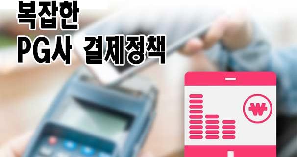 복잡한 소액결제 PG사 결제정책